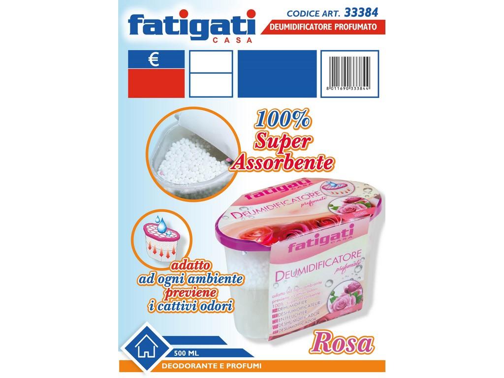 DEUMIDIFICATORE PROFUMO ROSA VASCHETTA 500 ML. FATIGATI