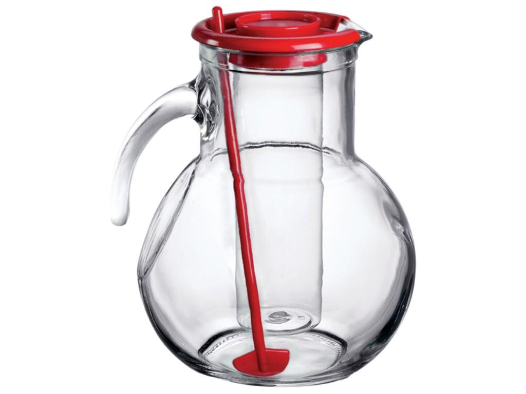Caraffa vetro cocktail bormioli kufra con portaghiaccio e - Portaghiaccio per bottiglie ...